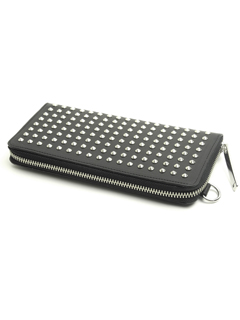 Leather long wallet 'all-studs' pointu RFロングウォレット