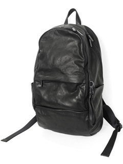 Leather-washed backpack 'round double F' バックパック/リュ