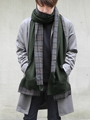 Jersey long scarf 'poche' / plaid ストール