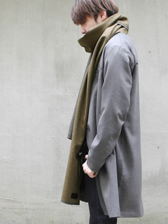 Melton long scarf 'compact' 17aw ストール