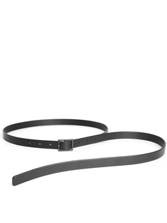 Leather skinny belt 'hang down'  ベルト