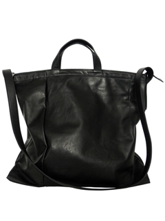 Leather shoulder bag 'grande poche' papier
