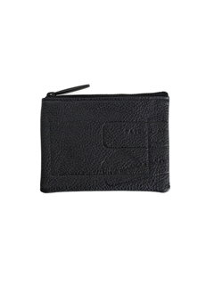 Leather wide coin case 'flat' grainé コインケース